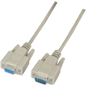 500305/01BG - Serial DB9 Cable - Male to Female - 1FT