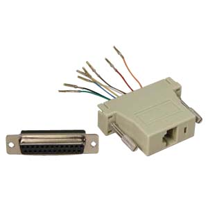 503184 - Modular Port Adapter - DB25 Female to RJ45 Female