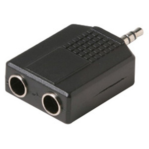 "503470 - Stereo Splitter - 3.5mm Male to (2)1/4"" Female"