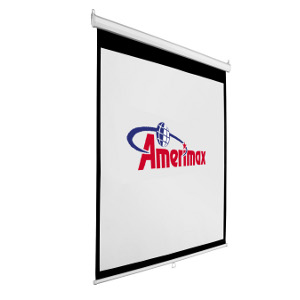 "309364 - 80"" Manual Auto-Lock Pull Down Projection Screen - 1:1 Format"