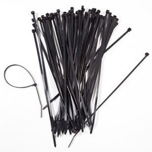 "1CU04006BK/100 - 6"" UV Nylon Cable Ties - 40lbs Tensile Strength - Black (100 Pack)"