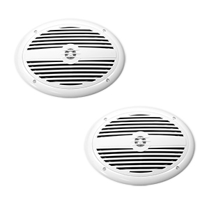 "TDX-MS69 - Pair of 6"" x 9"" Coaxial Weatherproof Marine Speakers with Integrated Grill"