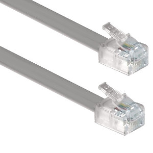 106195SL - 7ft Telephone Line Cord - 6P4C - RJ11 - Silver
