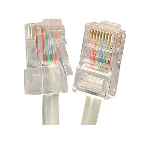 101942GY - CAT5e 350MHz Bootless UTP Ethernet Network RJ45 Patch Cable - Grey - 2ft